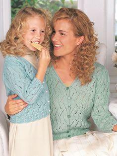 Pretty Lace Cardigan | Yarn | Free Knitting Patterns | Crochet Patterns | Yarnspirations