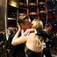 Leonardo DiCaprio and Kate Winslet #Oscars