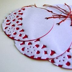 Paper Christmas Ornaments With Cake Doilies Cake Christmas Doilies Ornaments Happy New Year Christmas Activities, Christmas Crafts For Kids, Homemade Christmas, Christmas Projects, Holiday Crafts, Paper Christmas Ornaments, Christmas Gift Tags, Christmas Holidays, Christmas Decorations