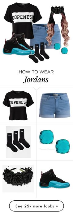 """dopeness"" by kahlanigirl2 on Polyvore featuring Pieces, Sisters Point, NIKE and Retrò"