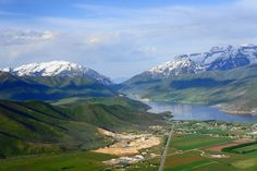 Looking down on Heber Valley, Utah from a hot air balloon!