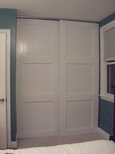 how to make your own floor to ceiling sliding closet doorsu2026 i wonder if we