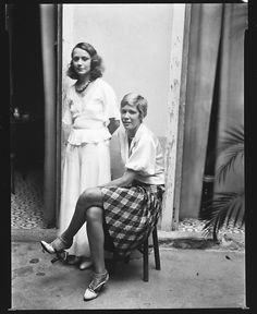 Two Women in Courtyard, Havana, 1933, Walker Evans