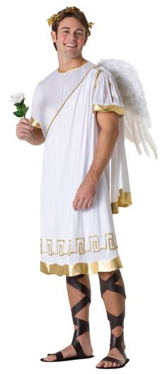 #cupidcostume includes Tunic, Belt and Headpiece. Perfect for a @valentinesday or #halloweenparty. Match it with roman sandals style and you are the perfect symbol of love. Sale Price $ 47.95 Click Here: http://www.halloweencostumesale.com/cupid-costume-grp-123z80395.aspx