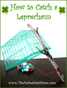 St Patrick's Day Craft for Kids. Catch a Leprechaun! So cute and easy too! (The secret is in the bait...)  remember leprechauns love shiny things.  Tried this once, he got away and all that was left was green glitter. Jordan will be all over this :)