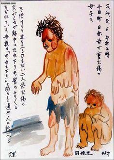 Rusmea : Os dramáticos desenhos dos sobreviventes da bomba atômica