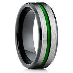 Green Tungsten Wedding Bands | Green Tungsten Wedding Rings – Clean Casting Jewelry Black Tungsten Rings, Tungsten Wedding Rings, Engraving Fonts, Laser Engraving, Maroon Wedding, Tool Steel, Black Rings, Purple Rings
