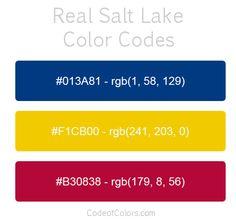 real salt lake team color codes