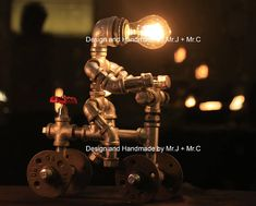 """*Approximate dimensions: 10.24"""" x5.5"""" x 13 (26cm x 14cm x 33cm); *Style: Antique; Applicable Space: 10-15 Square meters Materials: cast iron, water pipe, iron pipe, plumbing pipe, cast iron pipe *Voltage: 110V - 240V AC and everything in between; Urban Industrial Lamps are hand crafted"""