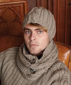Man's Pullover with Matching Loop and Cap