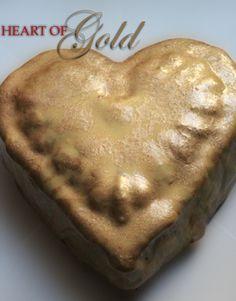 Red Velvet cake with Cream Cheese glaze in Metallic gold