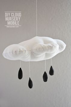 DIY Cloud & Rain Drops Nursery Mobile