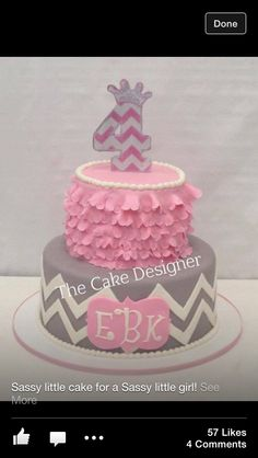 What a precious little girl birthday cake!!