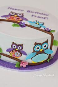 Eulen, ich liiiiebe Eulen. Ich finde sie so süß und mal ehrlich, sie werden doch nie langweilig! Für meine Nichte habe ich wie die letzten ... Partys, Fondant, Cake Decorating, Birthday Cake, Baby Shower, Desserts, Mj, Animal, Inspiration