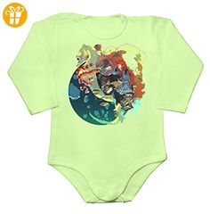 Original Ponyo Movie Character Fujimoto Design With A Seahorse Baby Long Sleeve Romper Bodysuit XX-Large - Baby bodys baby einteiler baby stampler (*Partner-Link)