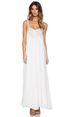 Mara Hoffman Embroidered Maxi Dress in White