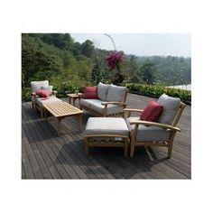 Teak Outdoor Furniture Patio Set Wood Deck 7pc Chairs Coffee Side Table Loveseat #JoshuaLane