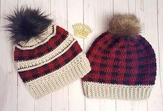 Ravelry: Katniss plaid mashup - Sandy D - Plaid Crochet, Crochet Adult Hat, Crochet Slouchy Hat, Crochet Yarn, Knitted Hats, Crochet Headbands, Blanket Crochet, Beanie Pattern Free, Crochet Beanie Pattern