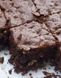 Triple Chocolate Brownies are three times as delicious with cocoa powder, dark chocolate, and white chocolate! - Bake or Break