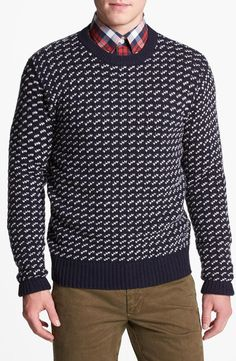Gant 'N.Y.- Norway' Wool Blend Sweater | chunky knits | mens sweater | menswear | mens fashion | mens style | wantering http://www.wantering.com/mens-clothing-item/gant-ny-norway-wool-blend-sweater/ag1c7/