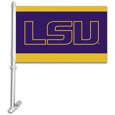 LSU Team Logo Car Flag