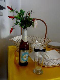 Amor , flor, pimenta e cerveja. Ingrediente para um bom casamento