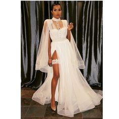 The third dress is just as gorgeous as the first two! Who says you can't wear three dresses on your wedding day? You did that _ Gown: Wedding Dress Pictures, Wedding Pics, Wedding Gowns, Wedding Ideas, 1920s Wedding, Wedding Night, Dream Wedding, Wedding Attire, Wedding Bells