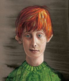 Ron Weasley, Harry Potter and the Philosophers Stone illustrated Edition 2015 by Jim Kay Harry Potter Fan Art, Harry Potter Jim Kay, Rogue Harry Potter, Garri Potter, Harry Potter Tumblr, Harry Potter Books, Harry Potter World, Potter Facts, Ron Weasley