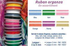 Rubans en organza pour les boîtes décorées