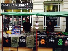 T-shirt shop outside at Rochester Sweeps festival