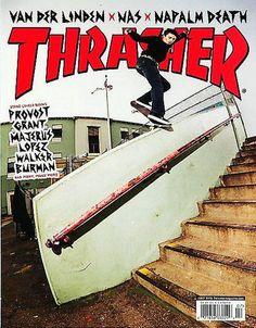 THRASHER Magazine July 2016 - Van Der Linden, NAS, NAPALM DEATH - NEW