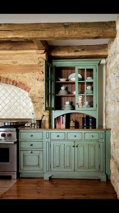 Love, too, but one thought ... That white stripe beside the hutch like piece should also be Aqua Green!