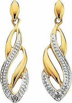 argos 9ct gold diamond flame drop earrings treat someone this year with these stunning 9ct gold