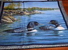 Loon Panels James Hautman Cotton Quilt Fabric 8 panels #Cranston