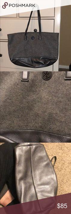 56e97c19b034 Tory Burch Tweed Silver Bag Good condition