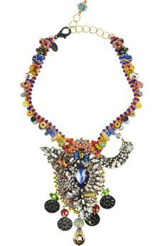 Erickson Beamon Fashion Tribe gold-plated Swarovski crystal necklace | NET-A-PORTER