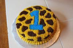 The Buttercream Bakery: Giraffe Print 1st Birthday Cakes