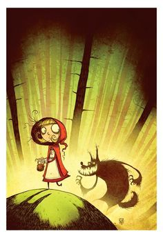 Little Red Riding Hood and The Wolf by Skottie Young *