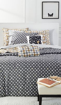 Great ready to have a little fun with your new home when you add creative and expressive new bedding from Martha Stewart Whim Collection to your wedding registry.