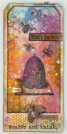 #papercraft #tags Bumblebees and Butterflies: Summer Sizzler 2 at Country View Crafts Challenge