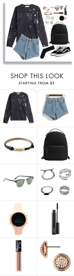 """Senza titolo #273"" by mariaantonietta8 ❤ liked on Polyvore featuring Valentino, MANGO, Ray-Ban, Aéropostale, MAC Cosmetics and NARS Cosmetics"