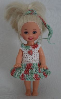 "Handmade Crochet Knit Kelly Clothes Outfit for 4 5"" Kelly Doll 661 