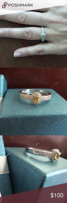 1.15cts Genuine Madagascar Sphene- Can be sized This Ring Retails For: $499 Flash Sale: $100.00. Genuine 1.10 carats all natural Madagascar Sphene & White Topaz. Platinum over solid 925 sterling silver. Absolutely gorgeous ring, halo style, stunning in person. Size 10 -Sphene is a very rare calcium titanium silicate that is hardly ever seen in jewelry or collections. Sphene is also called titanite. Would make a great piece to someones collection. Can be sized , verified by previous owner's…