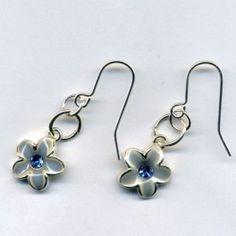 Swarovski Flower with Crystal Earrings