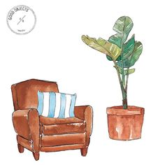 Good objects - Interiors #goodobjects #illustration #watercolor