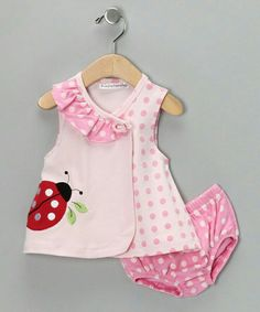 Look what I found on Rumble Tumble Pink Ladybug Dress & Diaper Cover by Rumble Tumble Little Dresses, Little Girl Dresses, Girls Dresses, Baby Dress Patterns, Pink Kids, Baby Kind, Baby Sewing, Toddler Dress, Fashion Kids