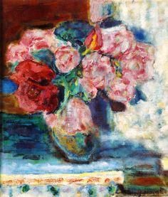 Pierre Bonnard -1936 vers bouquet de roses