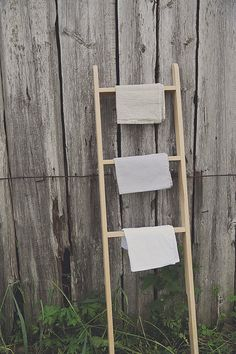 Linen waffle towels. The set of 3 washed linen by notPERFECTLINEN, $40.00