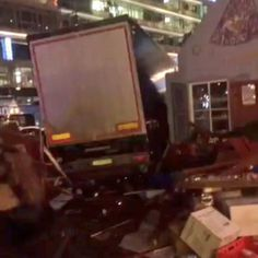 #BREAKING: carinage at Breitscheidplatz in #Berlin after a truck plows into the Christmas market