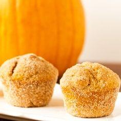 Pumpkin Doughnut Muffins via @browneyedbaker